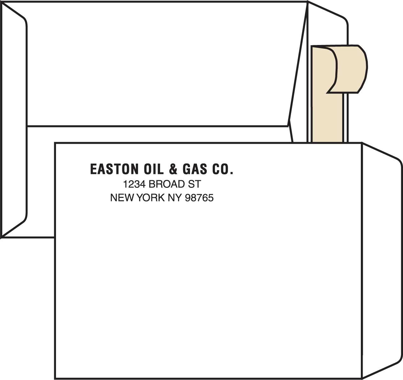 Northeastern envelope company 10 x 13 open end 28 for 10 x 13 window envelope